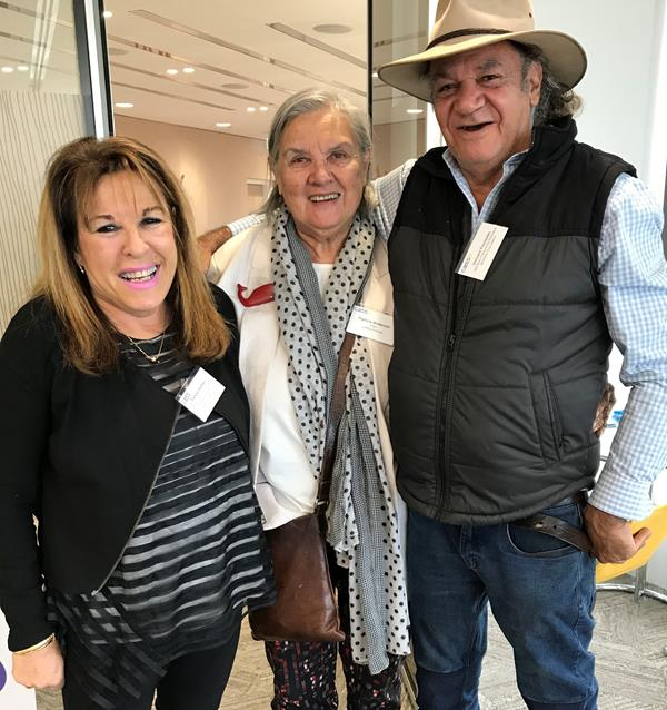 Pamela Nathan, Pat Anderson and Vincent Forrester