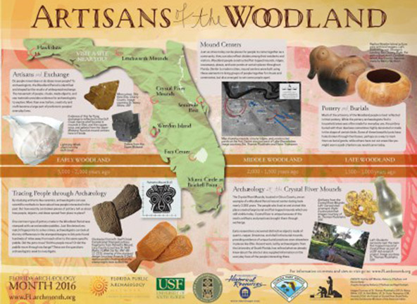 The 2016 Archaeology Month poster from Florida