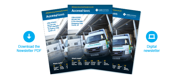 Welcome to the latest editionof CEM Access Control Newsletter