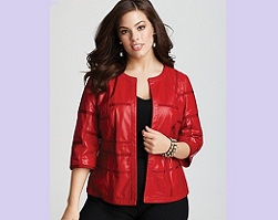 Red leather jacket by Lafayette 148, £657