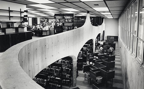View inside the University College of Townsville Library