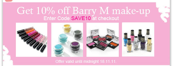 Get 10% off Barry M make-up