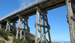 Kilcunda rail trestle bridge
