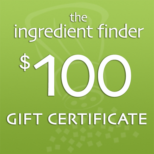 The Ingredient Finder Gift Certificate