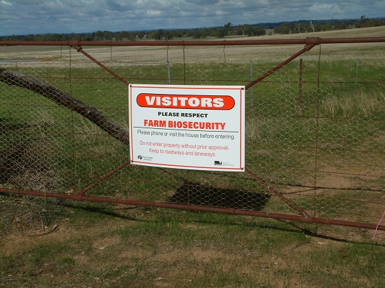 Biosecurity starts at the front gate