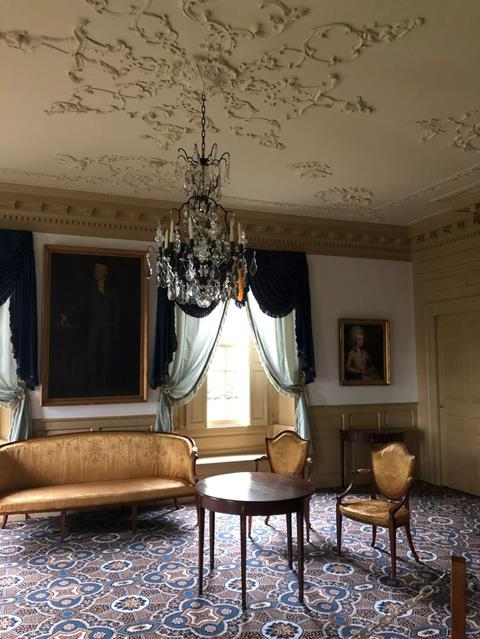 The Parlor where Eliza Schuyler and Alexander Hamilton were married.