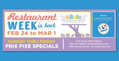 Chestnut Hill Restaurant Week