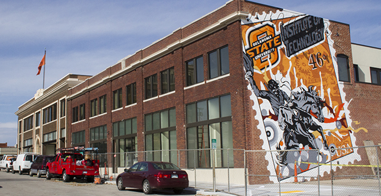 The almost finished mural on the west wall of the new Grand Old Post Office student housing project.