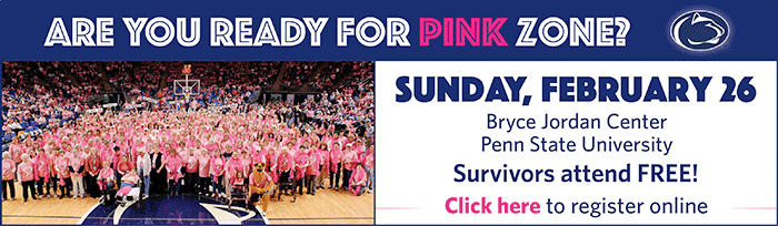 Survivors! Register now for the 2017 Pink Zone Game at Penn State!