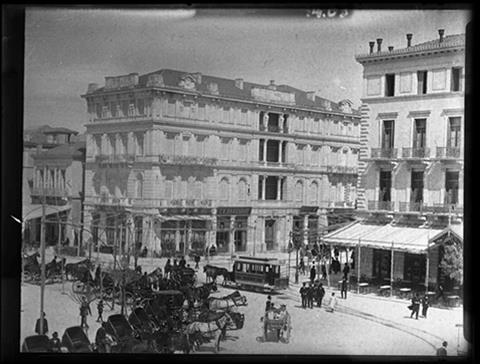 Historic photograph of Syntagma Square, Athens