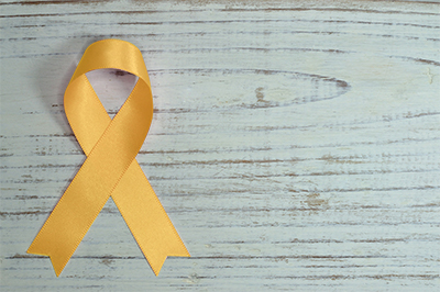 International Childhood Cancer Day Gold Ribbon
