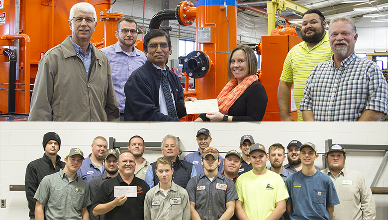 In December, representatives from the Gas Compressors Association and the Western Equipment Dealers Association presented checks to the Natural Gas Compression progam and the WEDA program respectively.