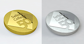 50th pin in silver and gold