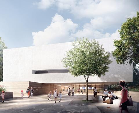 Architects render of the new Chau Chak Wing Museum