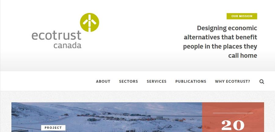 Ecotrust Canada homepage