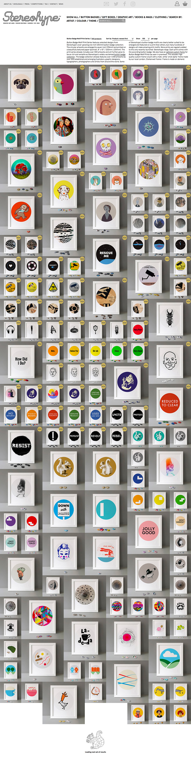 Button Badge Motif Print Series