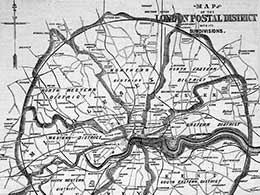 An early London postal district map