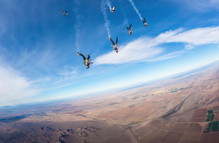 Skydiving shot