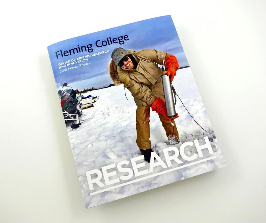 Photo of Fleming College's Annual Review.