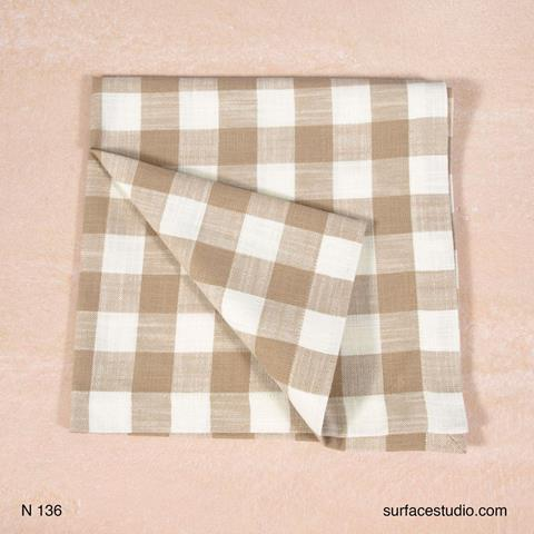 Brown and White Checker Napkin