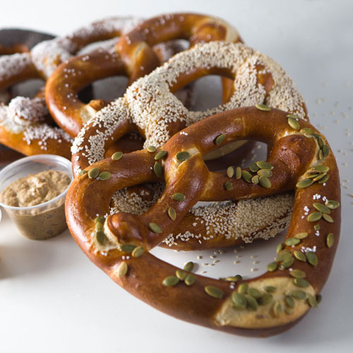 Giant soft pretzels