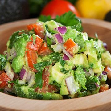 Super tasty looking bowl of avocado salsa
