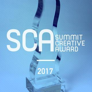 Trophy with Summit award logo