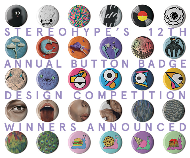 12th annual Button Badge Design Competition winners and runners-up announced