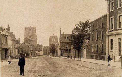Old Norwich streets picture