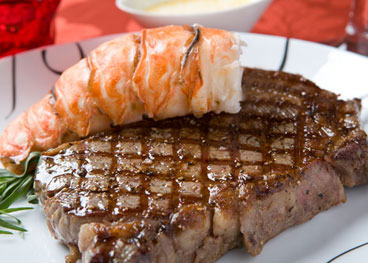 Ribeye With Lobster