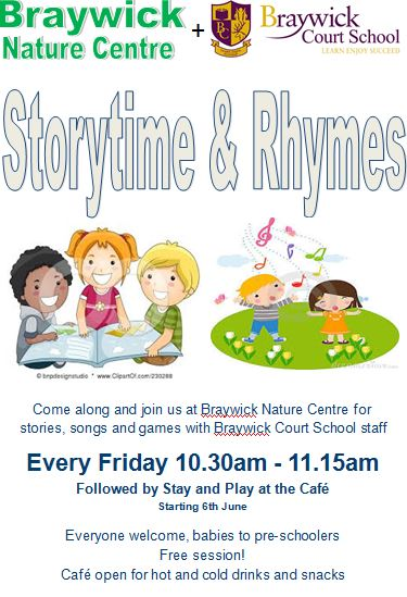 Join us at Storytime & Rhymes from Friday 6th June