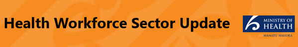 Health Workforce Sector Update banner