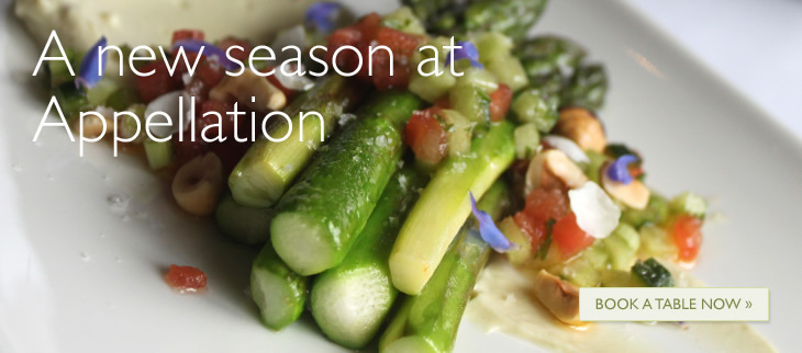 A new season at Appellation - Book a Table Now