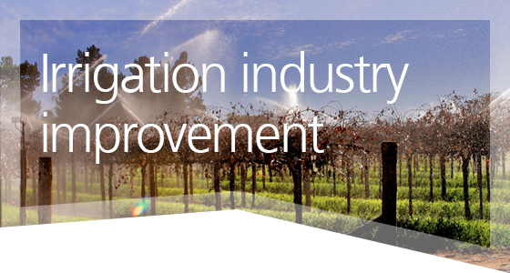 Irrigation industry improvement