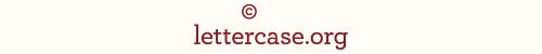 Lettercase logotype