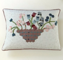 Hexagon Flower Cushion Sue Rhodes