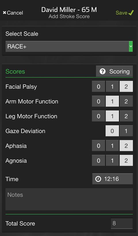 Stroke Score Race+
