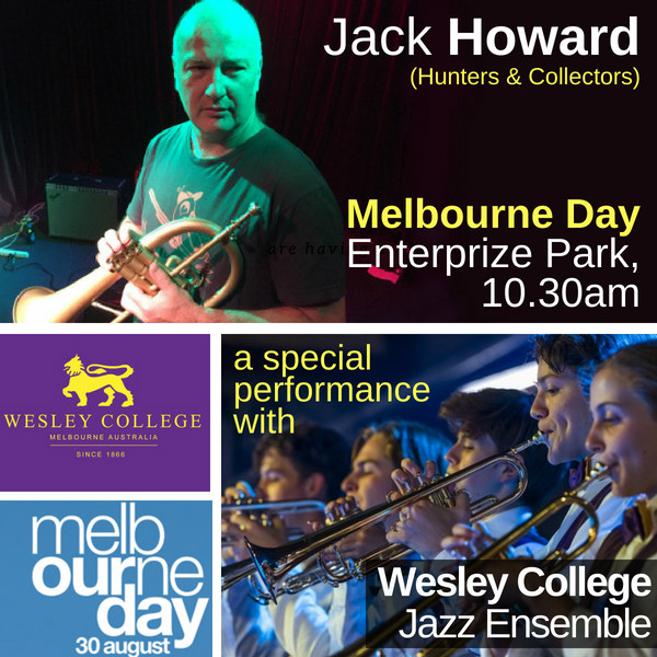 Jack Howard and Wesley College Jazz Band at Melbourne Day celebrations