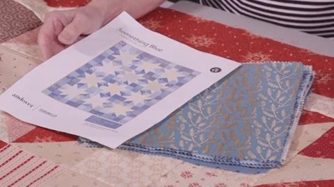Something Blue quilt with Valerie Nesbitt