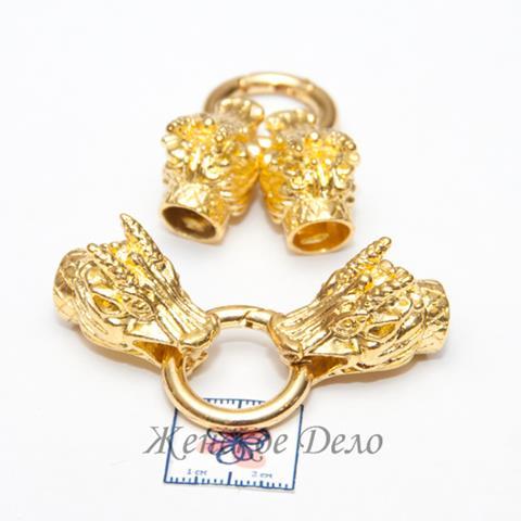 Замок Огненный Дракон цвет золото 76x25х15 мм арт. 21851