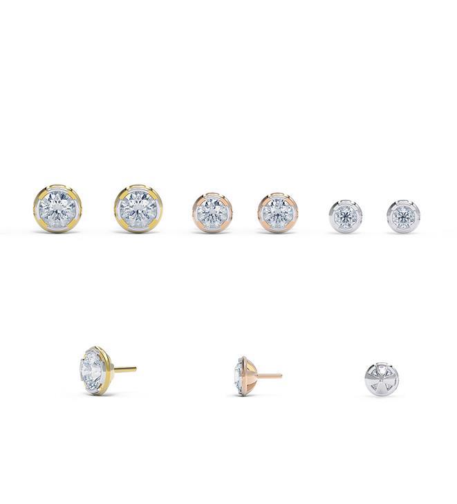 Diamond Dot Stud Earrings by Alice Herald