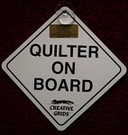 Quilter on Board Car Sign