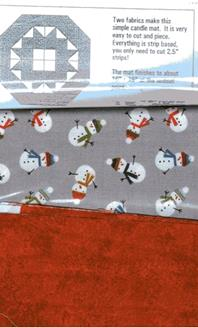 Candlemat Kit in Grey and Red from Creative Quilting