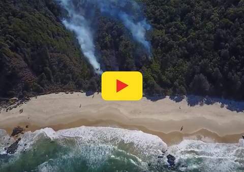 Port Macquarie Lifeguards Use Drones To Assist Emergency Services With Bushfire