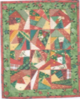 Crazy Christmas miniature quilt pattern by Julia Gahagan
