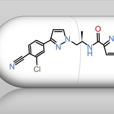 diagram of molecular structure on a pill
