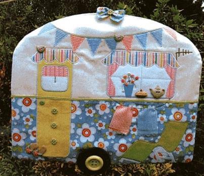 Laundry Van Peg bag pattern designed by Gail Penberthy