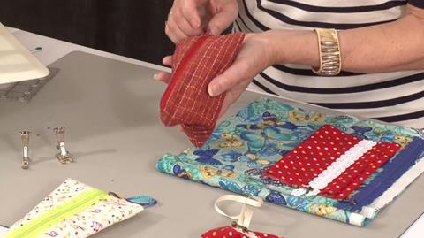 Fabric Humbug bag with Valerie Nesbitt