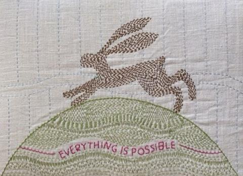 Hope Hare Kantha Kit by Angela Daymond