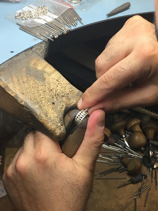 Diamond setting by master jewellers